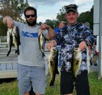Brian Davidson and Vinny Verzi first place 10.59 lbs on East Lake Toho